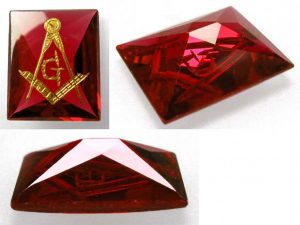 Pigeon Blood Ruby Gemstone With Gold Inlay
