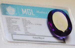 Intense Purple Amethyst Gemstone
