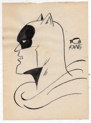 Bob Kane Batman 1939 Authentic Marker Drawing