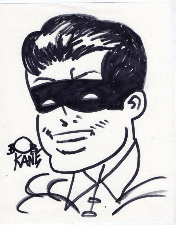 BOB KANE 1940 ORIGINAL AND AUTHENTIC MARKER DRAWING 'ROBIN' - HANDSIGNED
