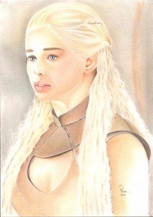 Daenerys Targaryen Drawing by Rose Silva