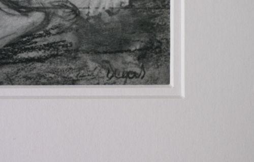 Edgar Degas heliogravure 'Femme s'essuyant' 1933 Ed. Braun & Cie - Mounted -RARE