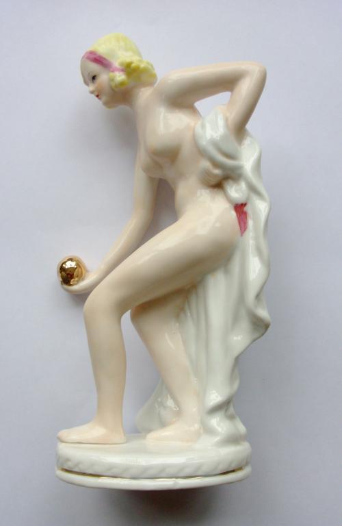 Porcelain Erotic Statue – Neundorf Adler – Early Jugendstil