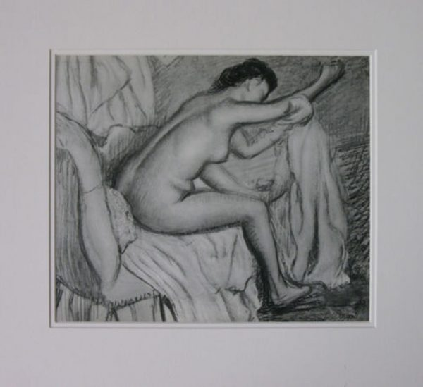 EDGAR DEGAS HELIOGRAVURE 'FEMME S'ESSUYANT' 1933 ED. BRAUN & CIE