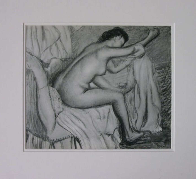 Edgar Degas Héliogravure 'Femme S'Essuyant' – 1993