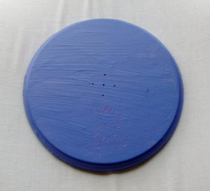Bruno Cantais Painting On Maple Plate – 2005