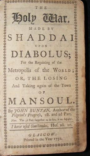 The Holy War Book by John Bunyan – 1752