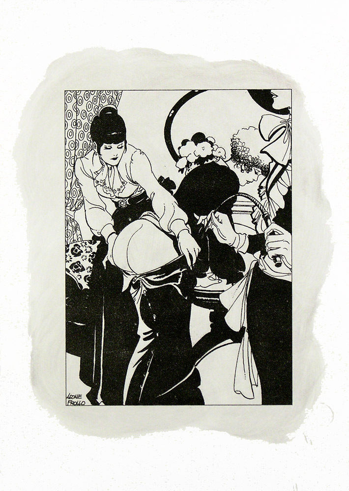 Leone Frollo Di-Litho & Oil On Paper 'Punizione' – 2010