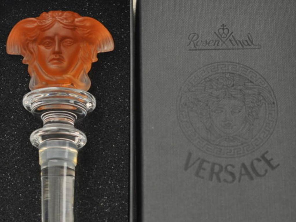 Rosenthal Meets Versace – Crystal Medusa Bottle Stopper