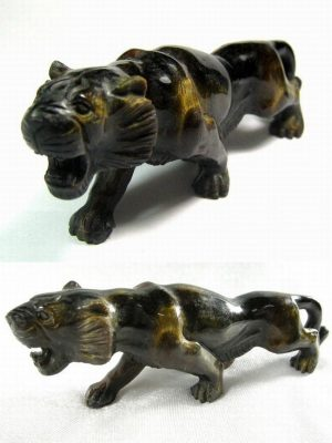 Golden Tiger Eye Gemstone 'Stalking Tiger'