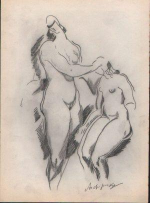 Alexander Archipenko 'Figurliche Komposition'
