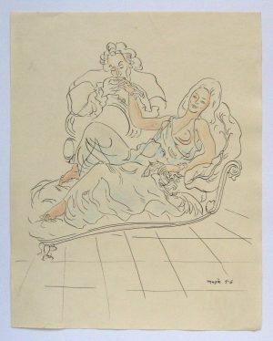 Maja Berezowska Drawing 'Scena Erotyczna IV'