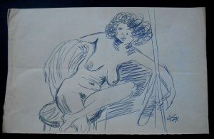 Otto Dix Art – Approx. 1930 Signed Study 'Erna'