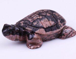 Tortoise Statue – Japan Antique Hand Carved Rhodonite