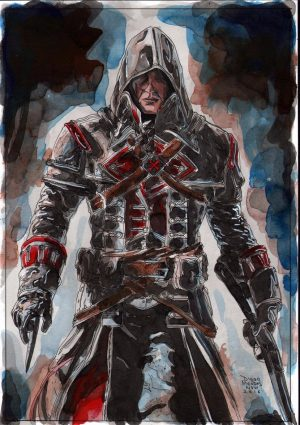 Assassin's Creed Drawing by Diego Mendez