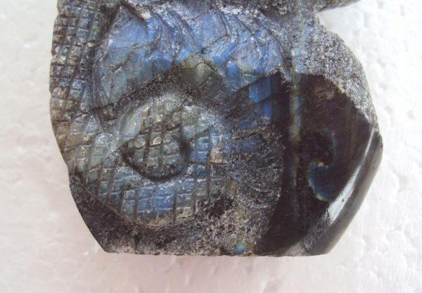Natural Labradorite Chameleon statue