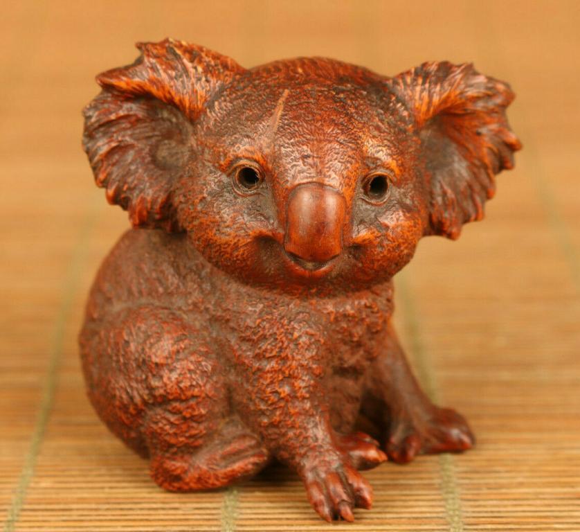 Hand Carved Miniature 'Koala'