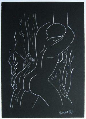 Henri Matisse Signed Ink Study 'Pasiphae Embracing Olive Tree'