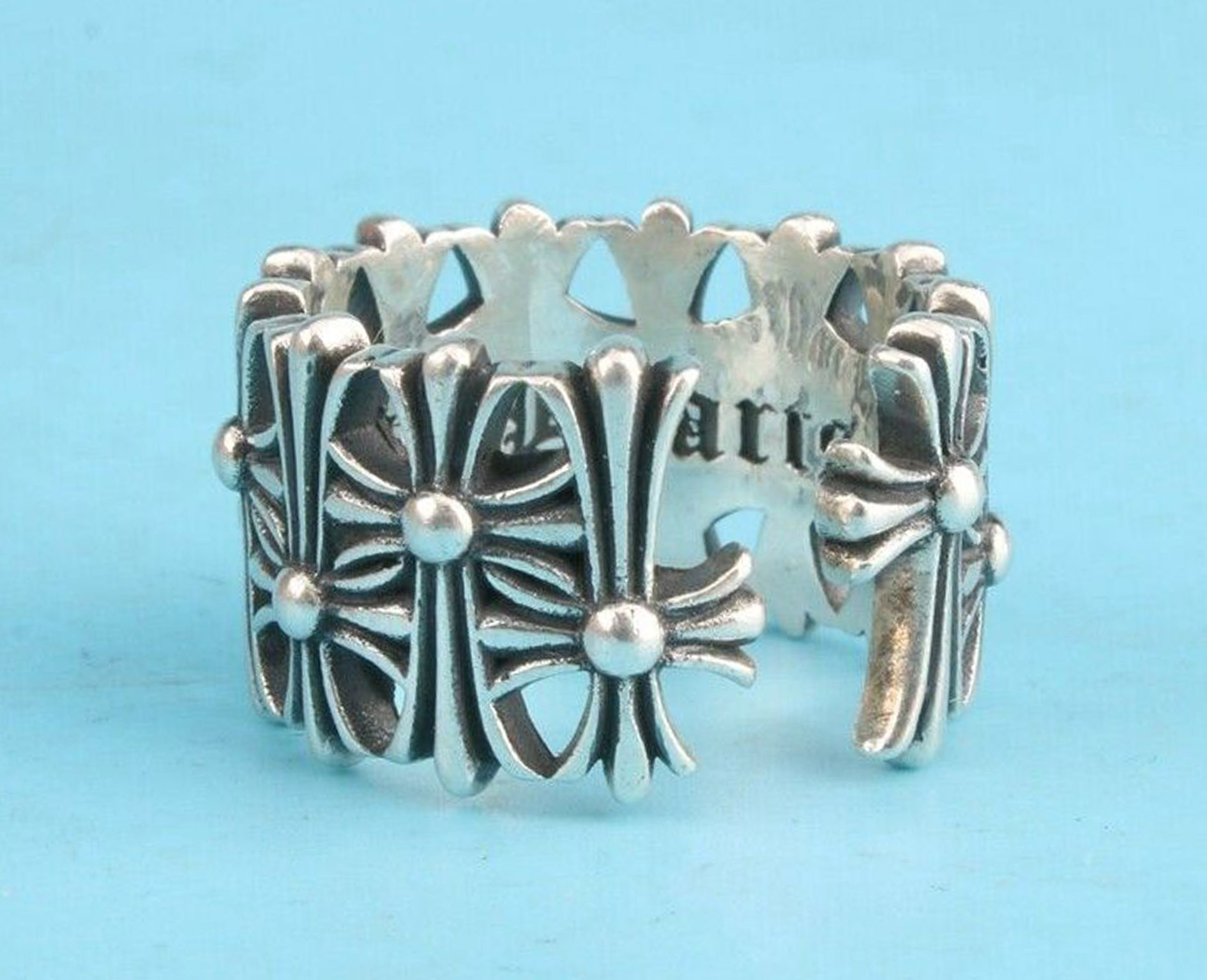 .925 Sterling Silver Ring 'Chrome Hearts'