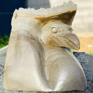 Hand Carved Bird Statue Late 19th Century
