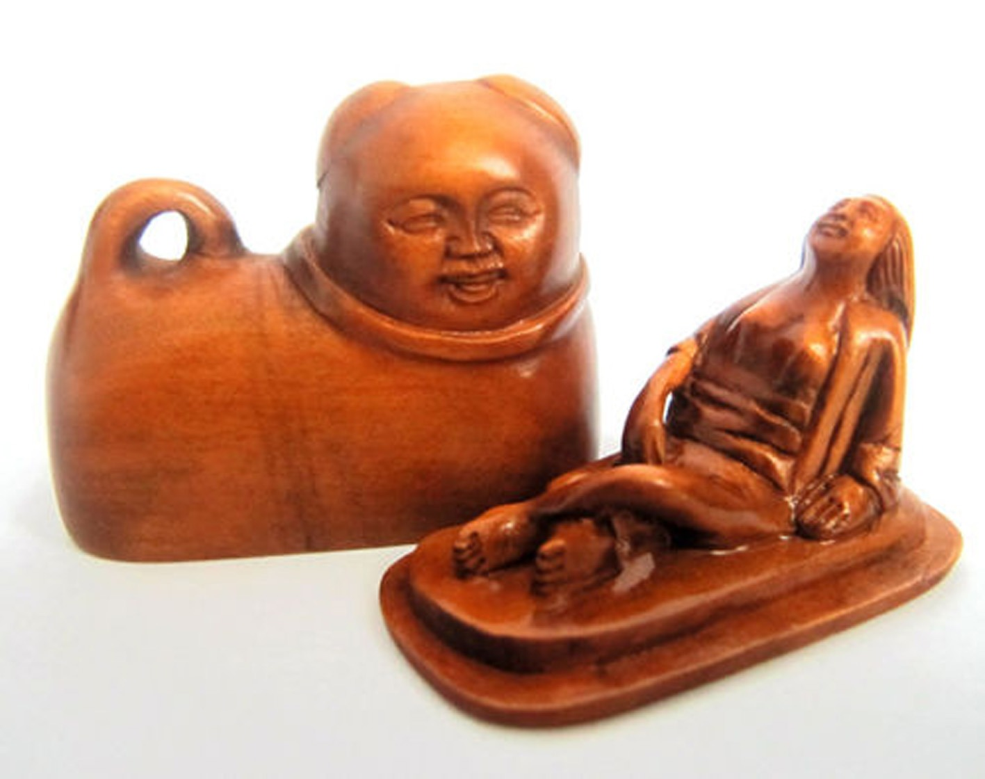 Japan Antique Erotic Shunga Boxwood