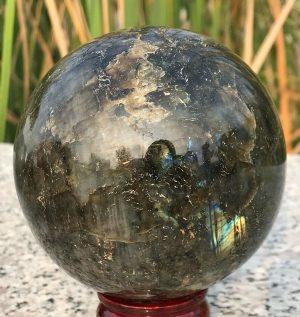 Madagascar Vintage Natural Labradorite Ball