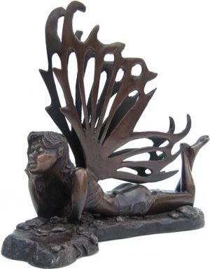 Contemporary Bronze Fantasy Statue 'Dreaming Elf'