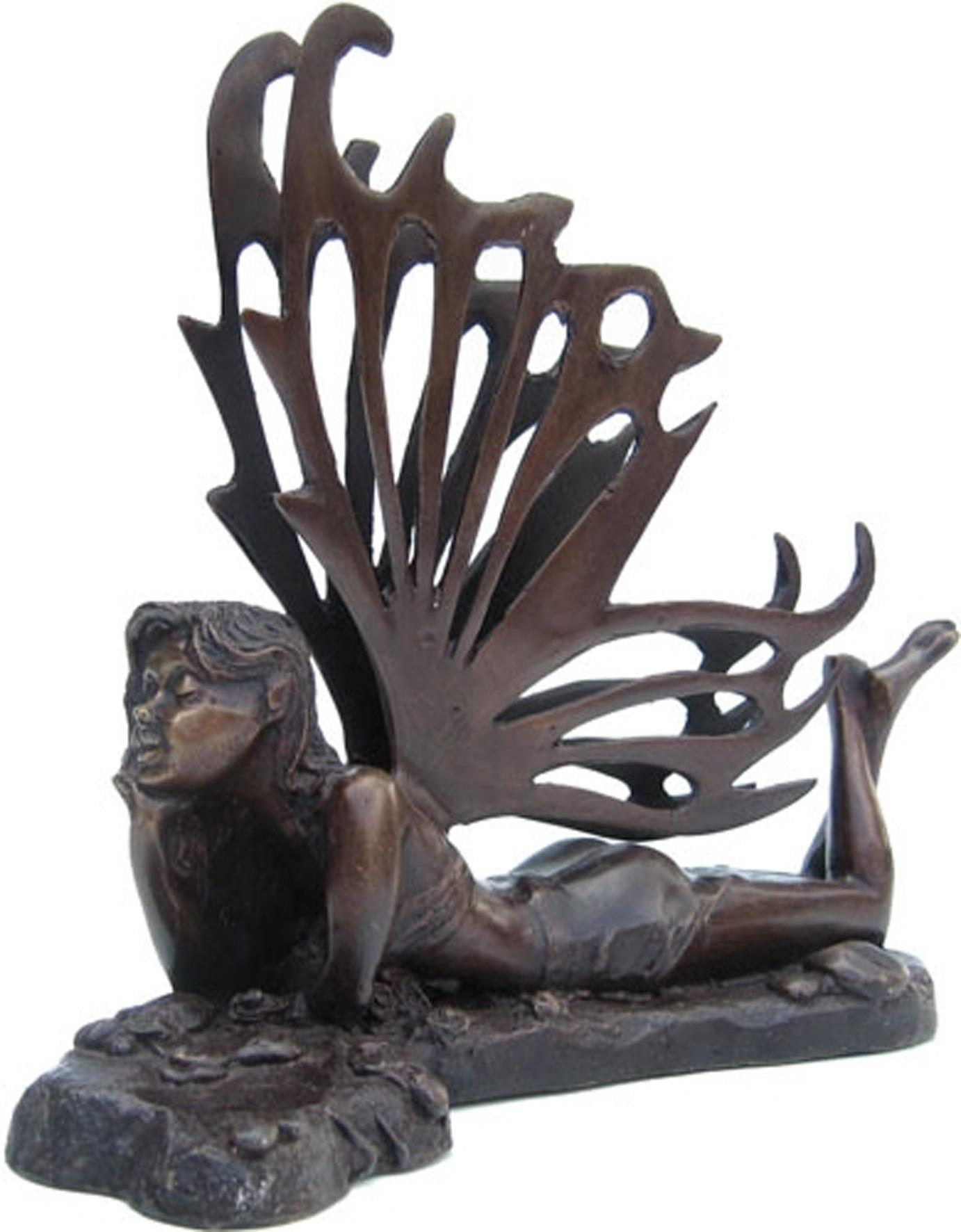 Contemporary Bronze Fantasy Statue 'Dreaming Elf'