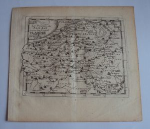 Antique Copper Etching Map 'Flandre' Pierre Du Val d'Abbeville