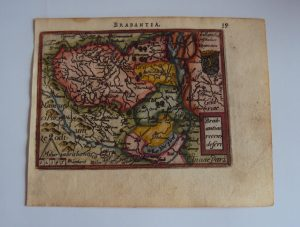 Antique Copper Etching Map 'Holland's Brabant