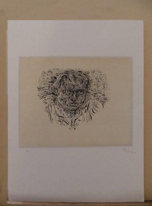 André Masson Litho 'Torrential Self-Portrait 1945'