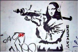 Banksy 'Mona Lisa Bazooka'