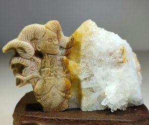 Natural Crystal Quartz Cluster Mineral 'Female Demon Devil'