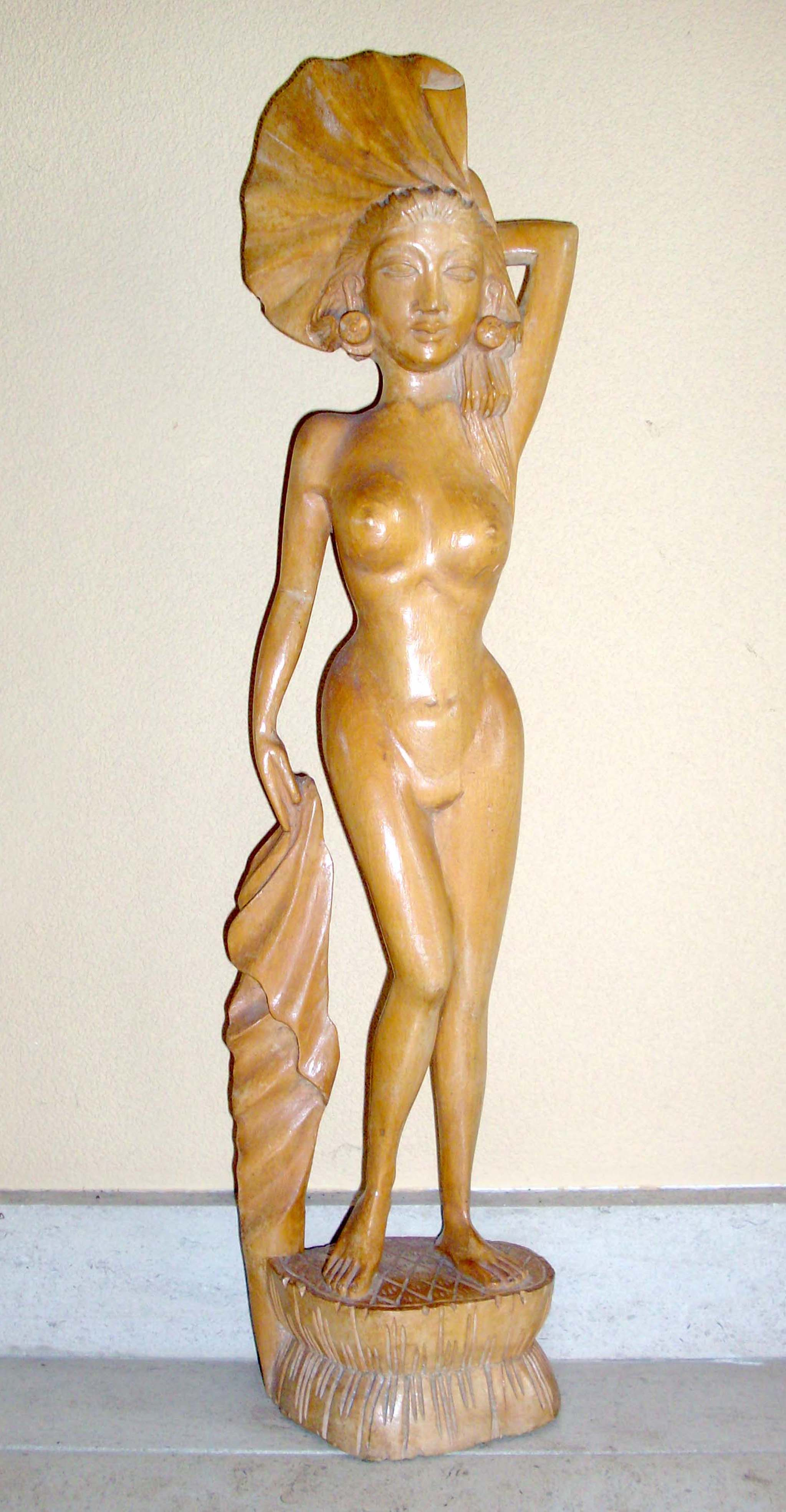 Dancing Nude Lady Sculpture
