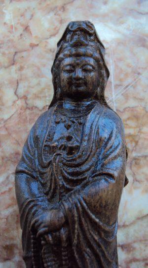 Kwan Yin Hand Carved Statue