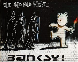 Banksy Large Print on Canvas – Signed