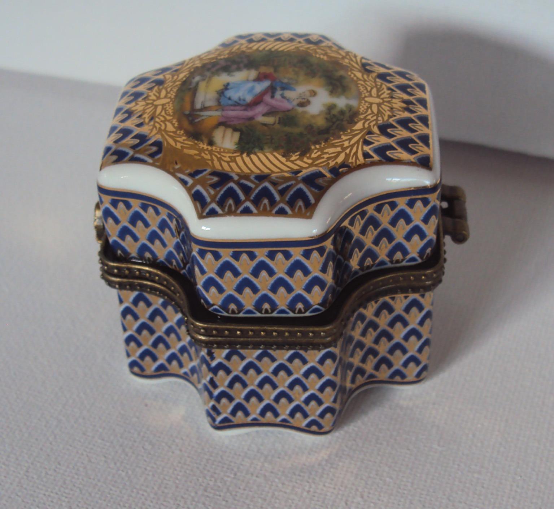Limoges Porcelain Perfume Bottle Holder