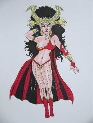 Dejah Thoris Original Drawing