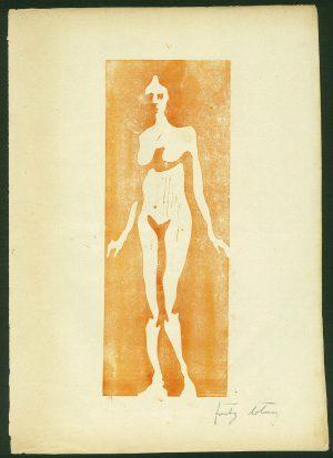 Fritz Bleyl Woodcut Etching 'Die Brücke' 1906
