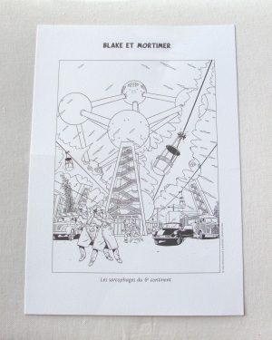 Serigraphic Ex-Libris Blake & Mortimer