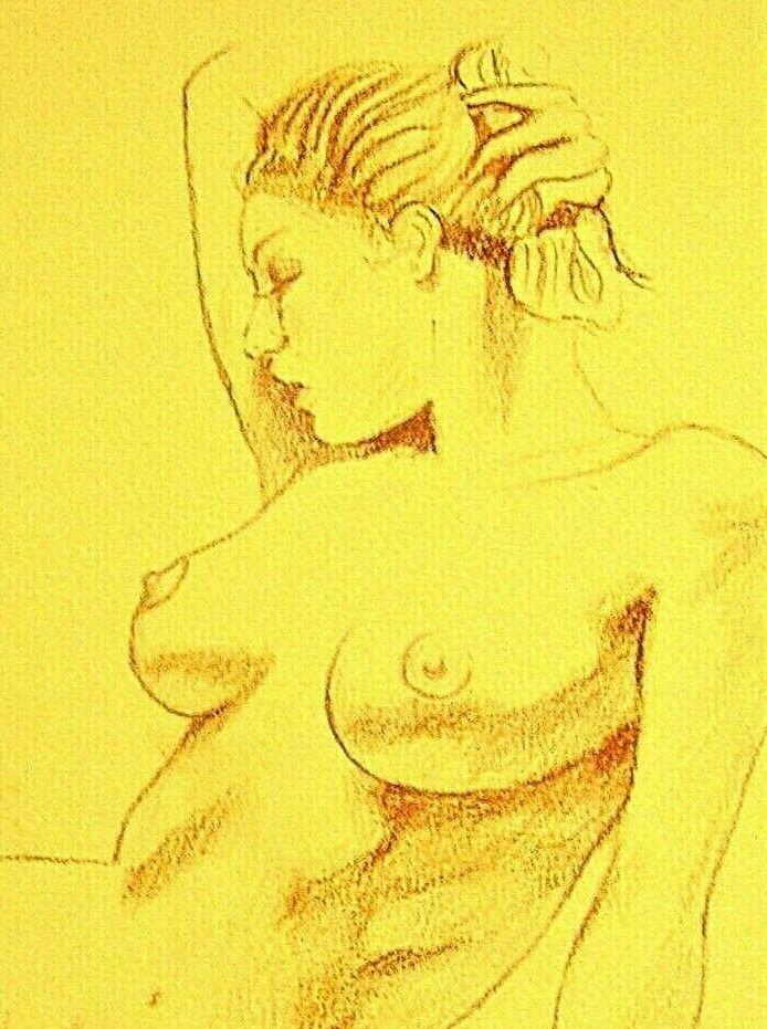 Beautiful original drawing 'Le Modèle'