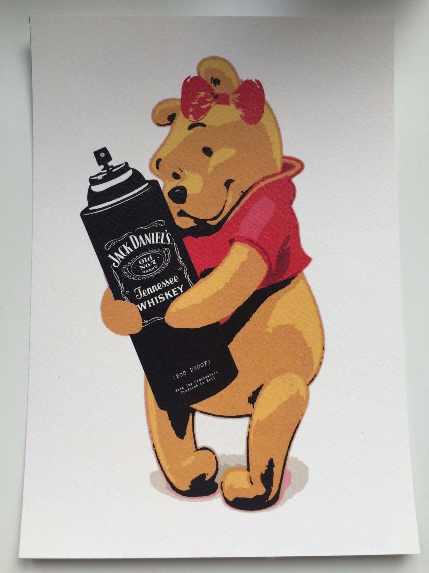 Death NY Serigraphic Print 'Drunk Winnie'
