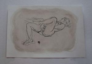 Auguste Rodin 'Erotic' Di-Litho Oil Enhanced – COA