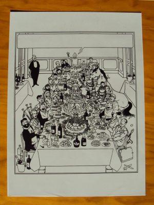 Tintin/Hergé 1947 original printing foil – SCARCE