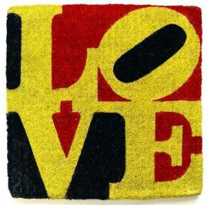 Robert Indiana 'Liebe Love' 2005 Sisal Artwork