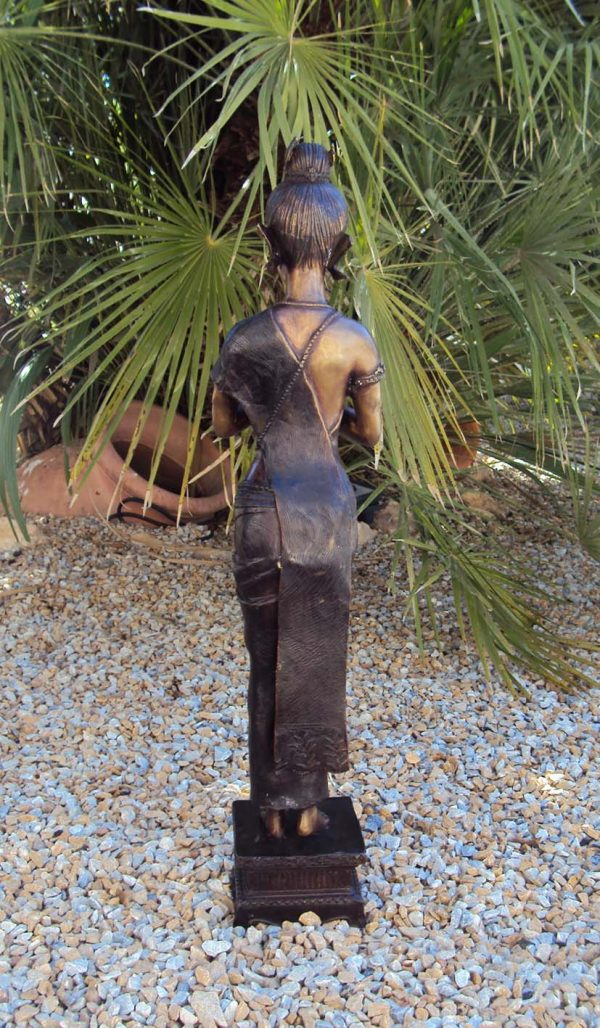 Siam Large Bronze Statue of Praying/Greeting Lady