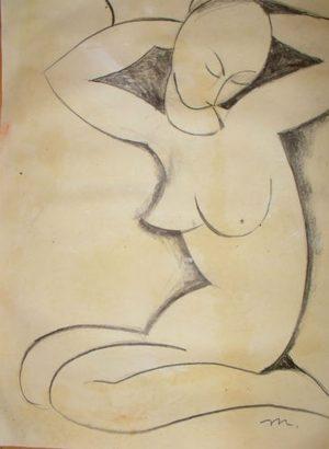 Amadeo Modigliani Original Pencil & Graphite Study