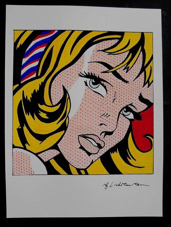 Roy Lichtenstein Original Ink & Watercolor - Dot Painting