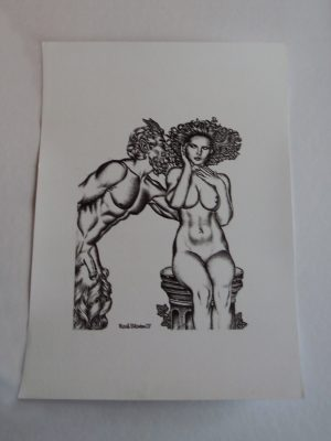 Mark Blanton Di-litho 'Nudes & Satyrs nr. 2' – COA