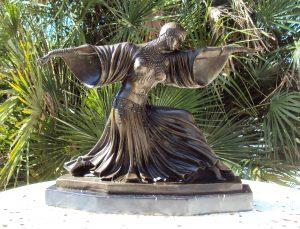 Art Deco Bronze by Demetre Chiparus 'Thais – Oriental Dancer'